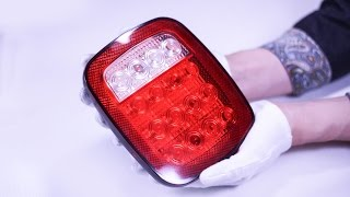 16 Led Stop/tail/turn Lights Red & White For Truck,trailer,jeep,boat,lorry,van Review  Partsam