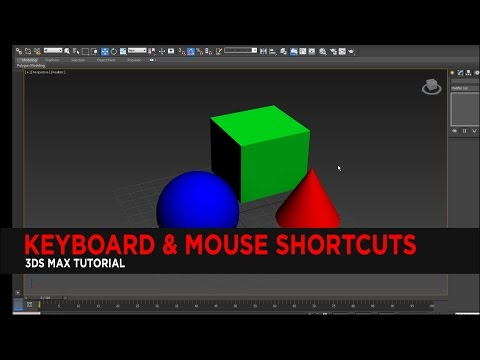 Keyboard & Mouse Shortcuts for 3DS Max : Tutorial