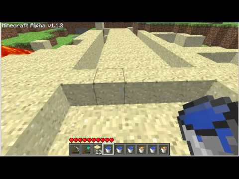 Captain Dcc's MineCraft Tutorial - How to get / use Water & Lava in Minecraft.