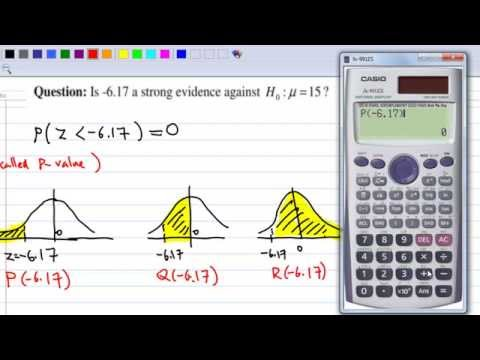 Hypothesis Testing Example 1 with CASIO fx 991 ES