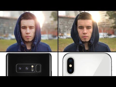 iPhone X vs Note 8 Camera Comparison - Photo Quality