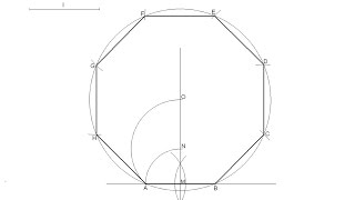 How To Draw A Regular Octagon Knowing The Length Of One Side
