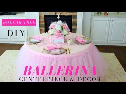 TUTU PARTY IDEAS | BALLERINA CENTERPIECEs | BALLERINA PARTY IDEAS