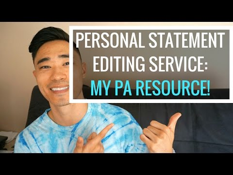 My PA Resource Personal Statement Editing Service