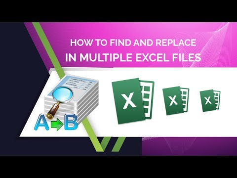 How to find and replace in multiple excel files?