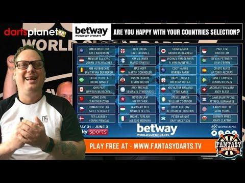 WORLD CUP OF DARTS - ARE YOU HAPPY WITH YOUR COUNTRIES SELECTION?