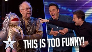 MAGICAL Puppet is FIRED out of a CANNON!   Auditions   BGT Series 9