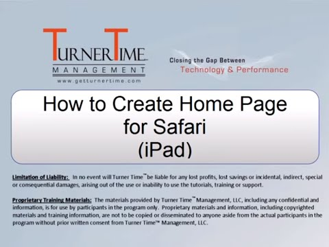 How to Create a Home Page for Safari on iPad