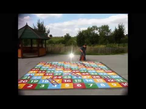 Outdoor Flooring Playground Markings 1-100 Snakes and Ladders
