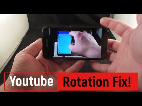 YouTube Screen Rotation Fix!!