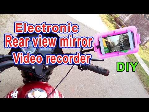 Electronic rear view mirror for motor cycle | How to make at home