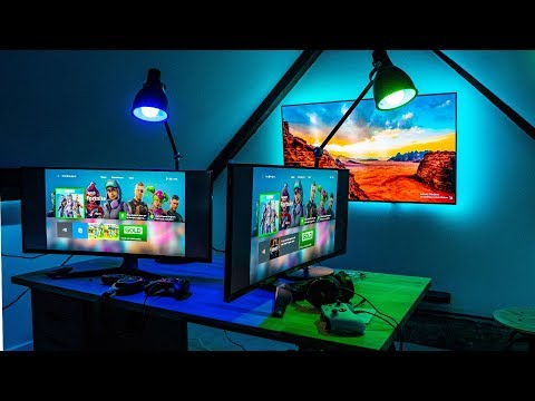 The ULTIMATE Dual GAMING RIG is FINISHED! Setup and TOUR!