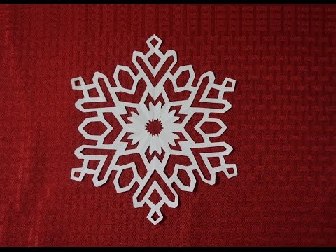 Paper Snowflake 3- Detailed tutorial- intermediate level - Can YOU do it?