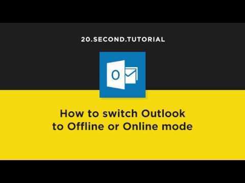 Switch Outlook online or offline | Microsoft Outlook Tutorial #8