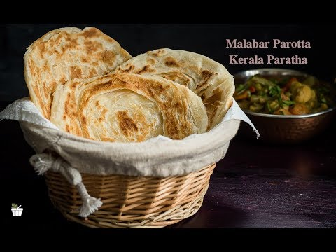 Malabar Parotta (kerala Paratha) Indian Bread Recipe | How to Make soft Maida Paratha |Parotta Video
