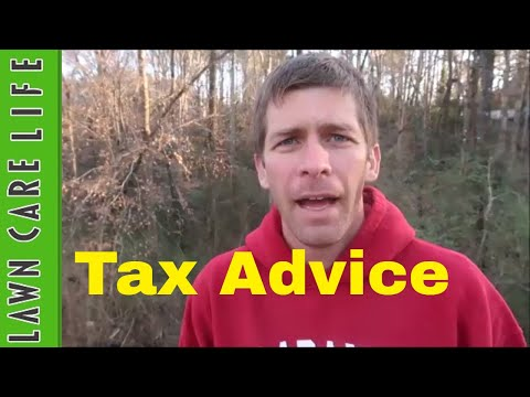 Lawn Care Business Advice on Taxes and Deductions