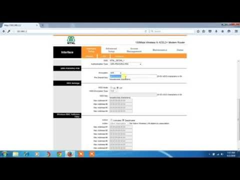 How to change wifi password of Binatone router