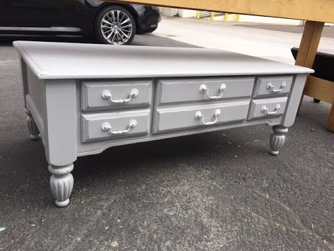 $10 Thrift Store Coffee table makeover. From trash to Treasure in about an hour.