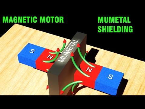 Magnetic Motor -  Shielding with MuMetal