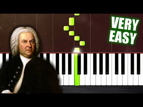 Bach - Minuet In G - VERY EASY Piano Tutorial by PlutaX