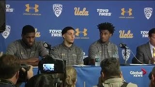 UCLA basketball players thank Donald Trump for intervening in China shoplifting incident