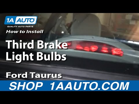 How To Install Replace Third Brake Light Bulbs Ford Taurus Sedan Light 96-07 1AAuto.com