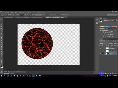 lava boll photoshop tutorial