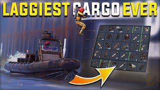 WE TOOK THE LAGGIEST RUST CARGO SHIP LOOT RUN EVER FOR EASY LOOT - Rust Duo Vanilla Survival  S16-E2