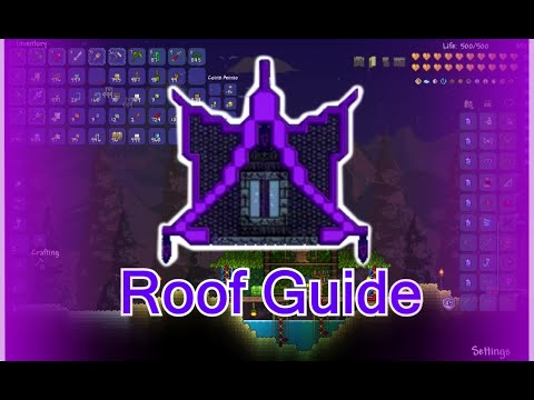 Terraria builders guide part 2 - Roofs