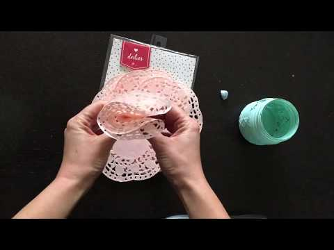 The 3 Minute Paper Doily Flower