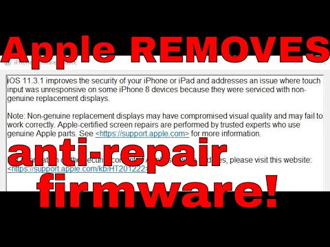 Apple BACKS DOWN on anti screen repair firmware