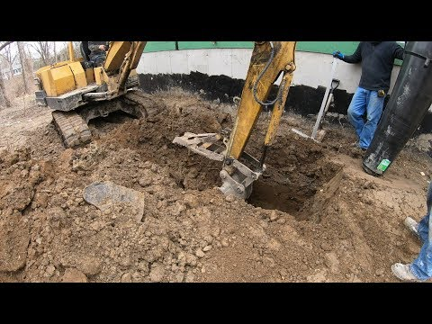 Digging footings for a porch