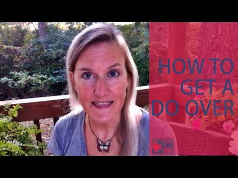 How to Get a Do Over - By Claire Casey (For Digital Romance TV)