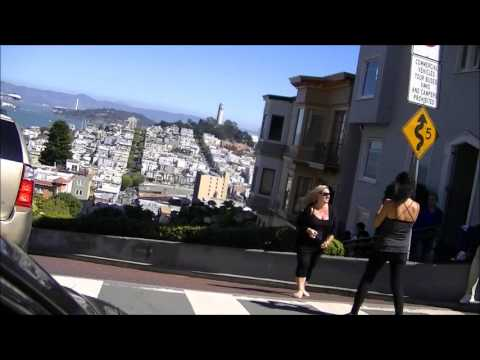 Driving down Lombard Street in SF