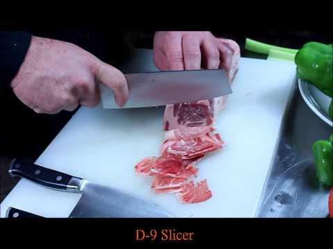 D-2, D-6 & D-9 vs. Frozen Beef Maestro Wu Bombshell Steel Knives