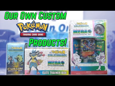 OUR OWN CUSTOM POKEMON CARD PRODUCTS?!