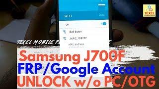 Samsung J7 J700F FRP UNLOCK~ Remove BYPASS Google Account
