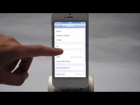 Apple iPhone 5: Turn off / on data roaming services