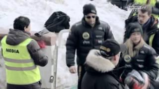 Driving on ice with Kimi Räikkönen. Very funny!