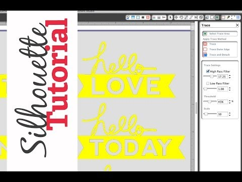 How to Trace | Silhouette Tutorial