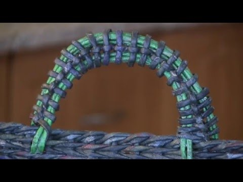 A woven embroidered handle. Part 16.