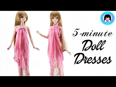 👗 5 Minute SMART DOLL Dresses - Super Easy! 👗 DarlingDolls DIY