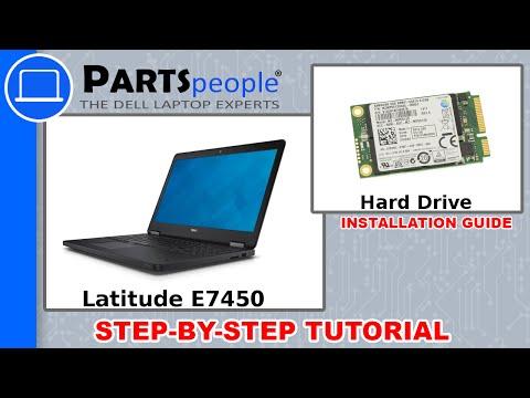 Dell Latitude E7450 SSD Hard Drive Replacement Video Tutorial