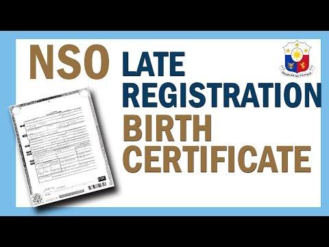 PAANO ANG PROCESO SA NSO LATE REGISTRATION OF LIVE BIRTH