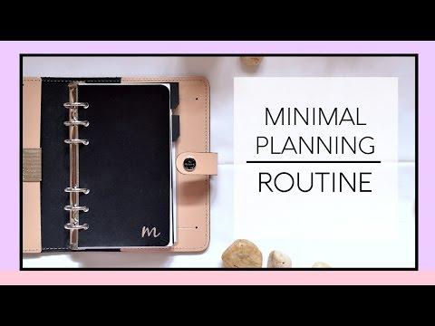My Minimalistic Planner Setup 2016/2017