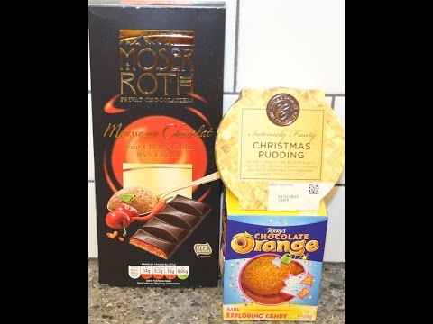 Moser Roth Sour Cherry Chilli, Marks & Spencer Christmas Pudding & Terry's Chocolate Orange w/Candy