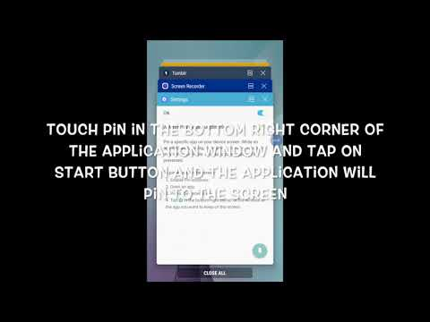 HOW TO ENABLE OR DISABLE PIN WINDOWS ON S6 IN ANDROID NOUGAT