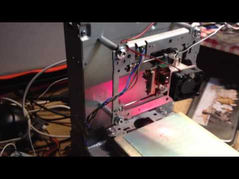 Mini laser cutter in action