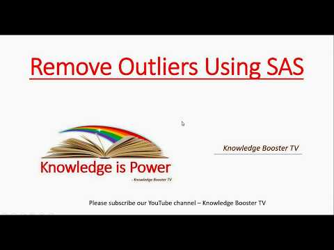 Remove outliers from your dataset using SAS