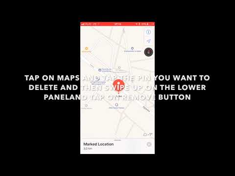 HOW TO DELETE A PIN IN IOS 11 MAPS